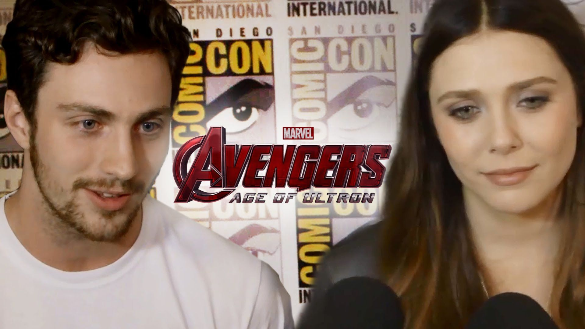 Aaron Taylor Johnson Elizabeth Olsen Talk Avengers 2 Age Of