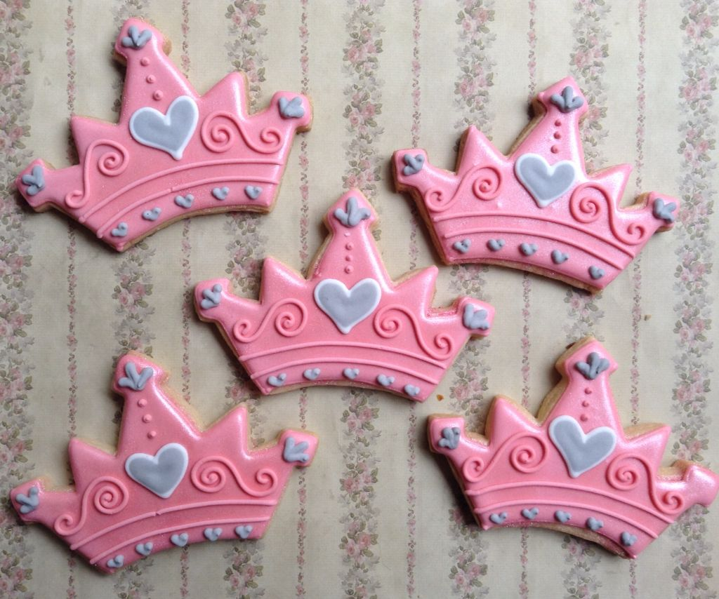 Galletas Decoradas De Princesas Galletas De Coronas De Princesas Galletas Pinterest