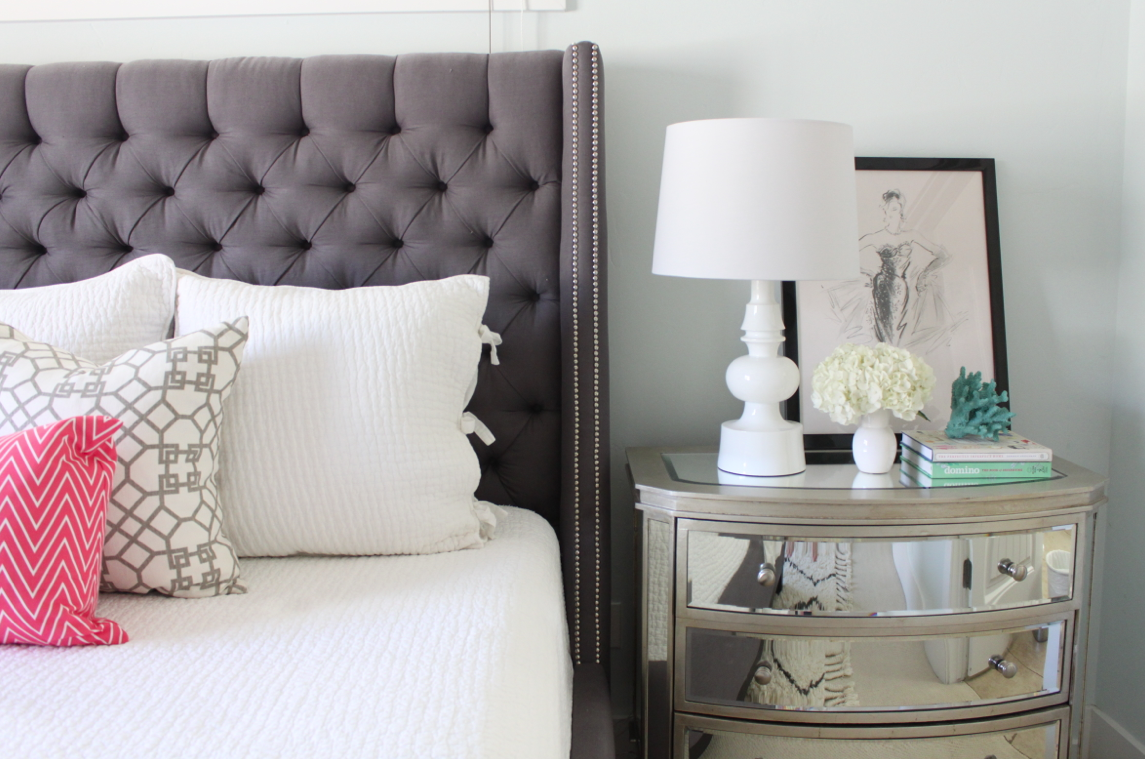 Turned Table Lamp From West Elm Master Bedroom Design