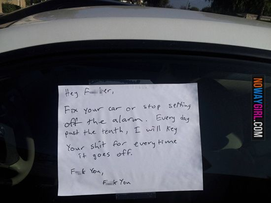Funny Car Notes Funny Messages Funny Note Funny Signs
