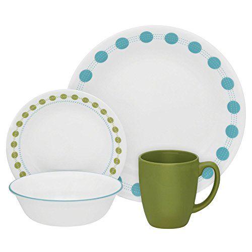 Amazing Corelle 20 Piece Livingware Dinnerware Set With Storage