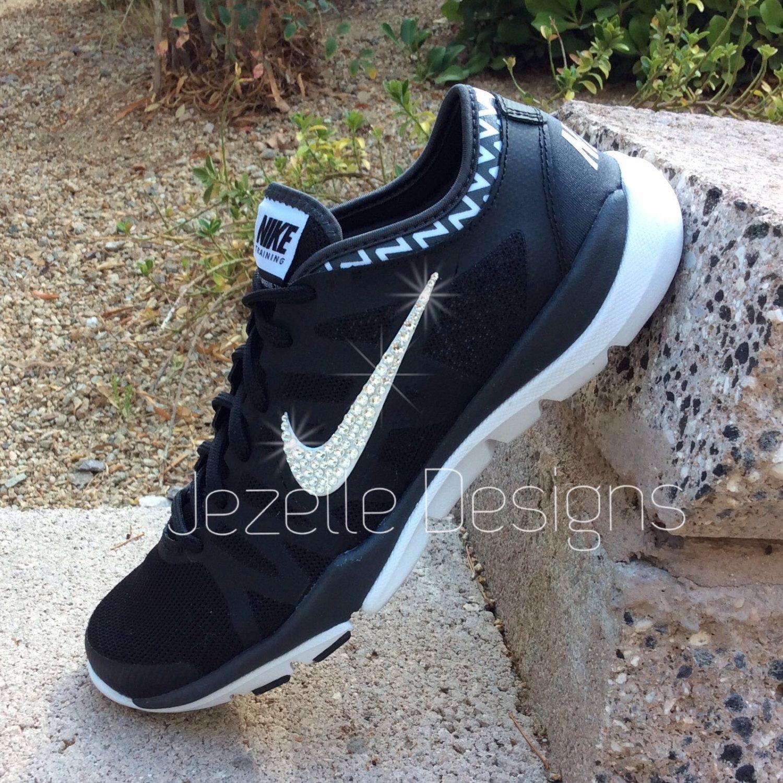 ... cheapest 2091f 17a2f Swarovski Nike Womens Nike Flex Supreme -Glitter  Kicks Blinged Out w Swarovski ... 1c2618fc71b5