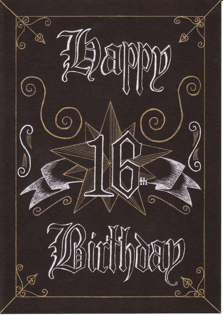 Pix For Gt Happy 16th Birthday Card For A Boy Happy 16th