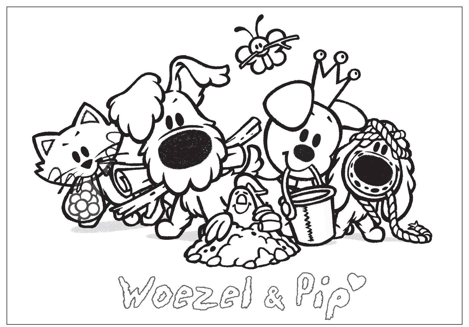 Kleurplaat Woezel Pip Met Charlie Op Zoek Naar Sloddervos Kleurplaten Hond Tekeningen Voor Kinderen