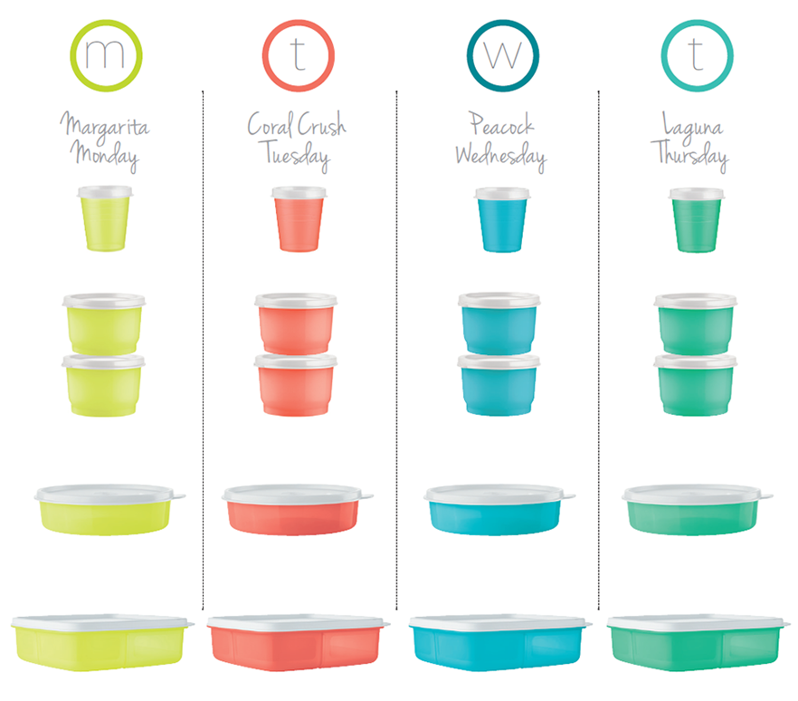 Tupper™ Minis, Snack Cups, Medium Wonders Bowls, LunchIt