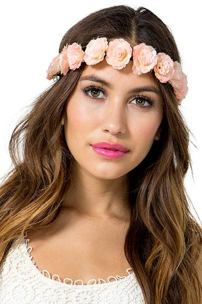 Rose in Bloom Stretch Flower Crown