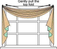 Great How To Make Scarf Valances. Canu0027t Wait To Try This. Swag CurtainsVoile  CurtainsHanging ...