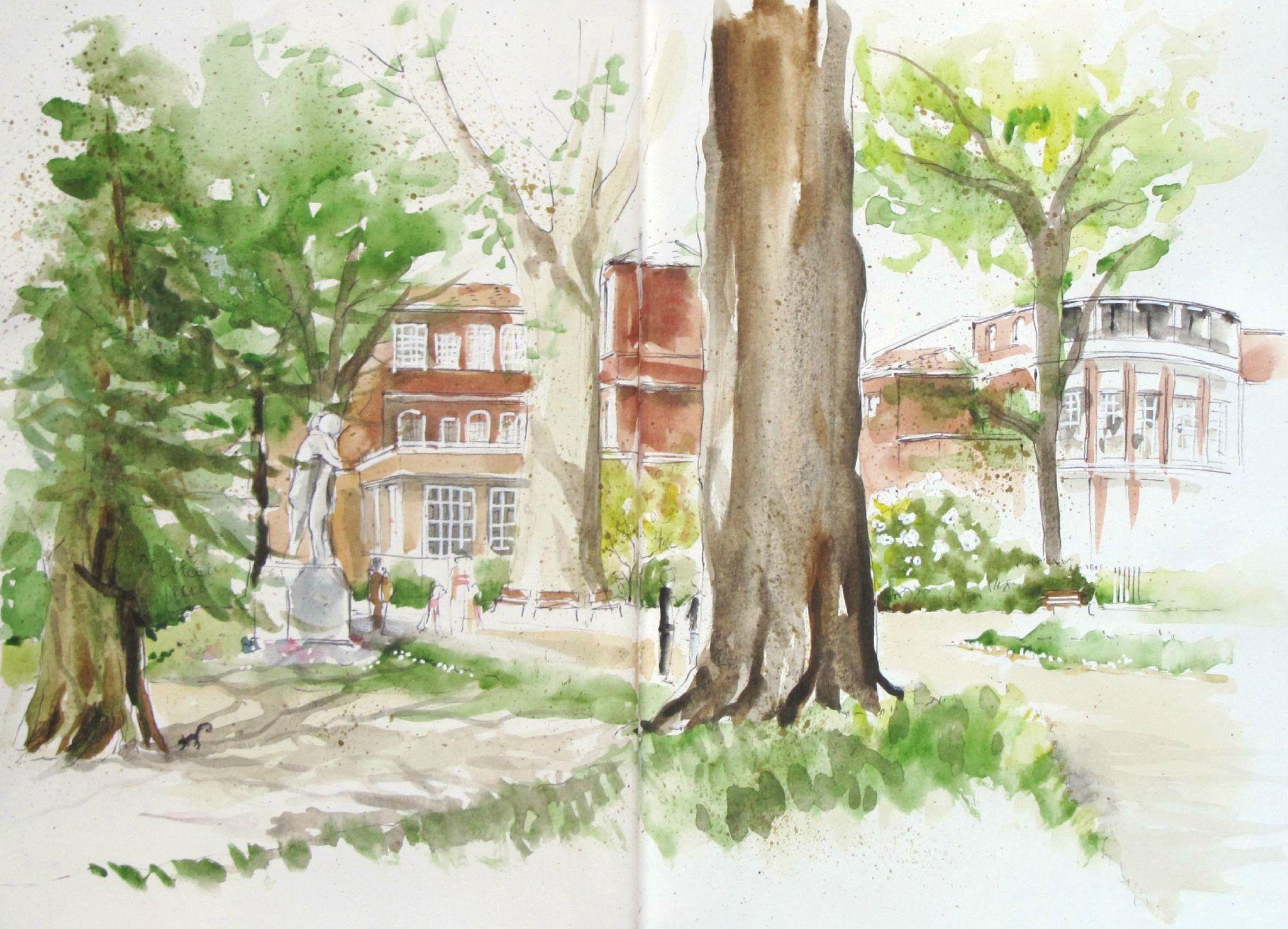 Toulouse jardin des plantes aquarelle Pinterest
