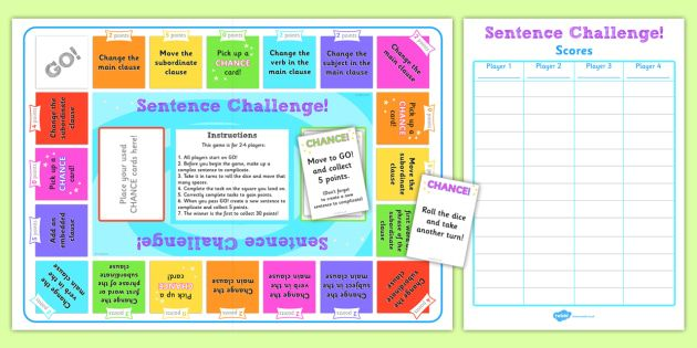 Complex Sentences Board Game - KS2 English Resource - Twinkl