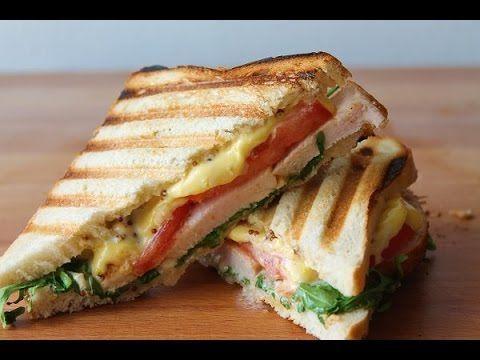 Hähnchen Sandwich/Panini (Rezept)    Chicken Sandwich (Recipe)    [ENG S...
