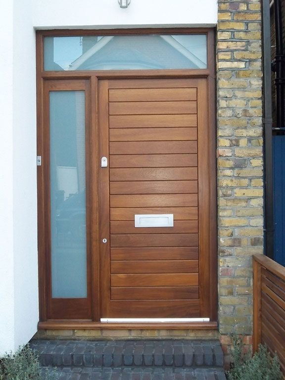 Contemporary style door with etched glass side panels for Front door and side panel