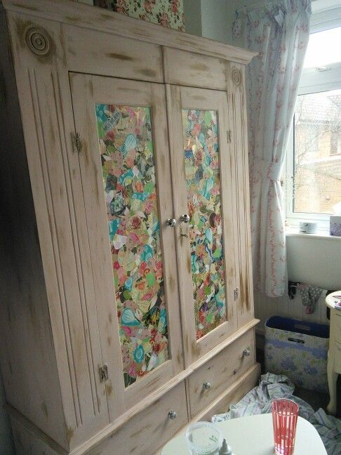 Decoupage Wardrobe Wardrobes In 2019 Decoupage