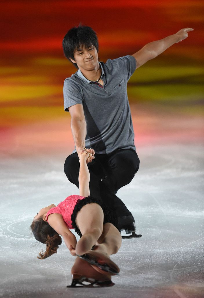 Narumi Takahashi and Ryuichi Kihara of Japan perform their routine during THE ICE 2014 at the White Ring on July 19, 2014 in Nagano, Japan. (July 18, 2014 - Source: Atsushi Tomura/Getty Images AsiaPac) (704×1024)