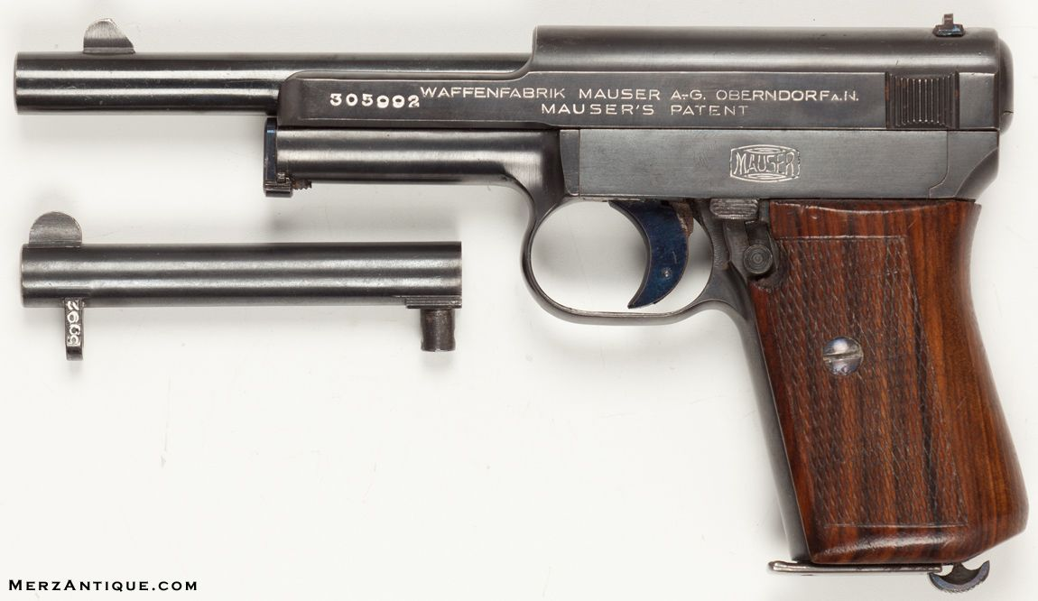 MAUSER WAFFENFABRIK OBERNDORF 7.65 SEMI-AUTO With very rare extra bbl chambered in 4mm.