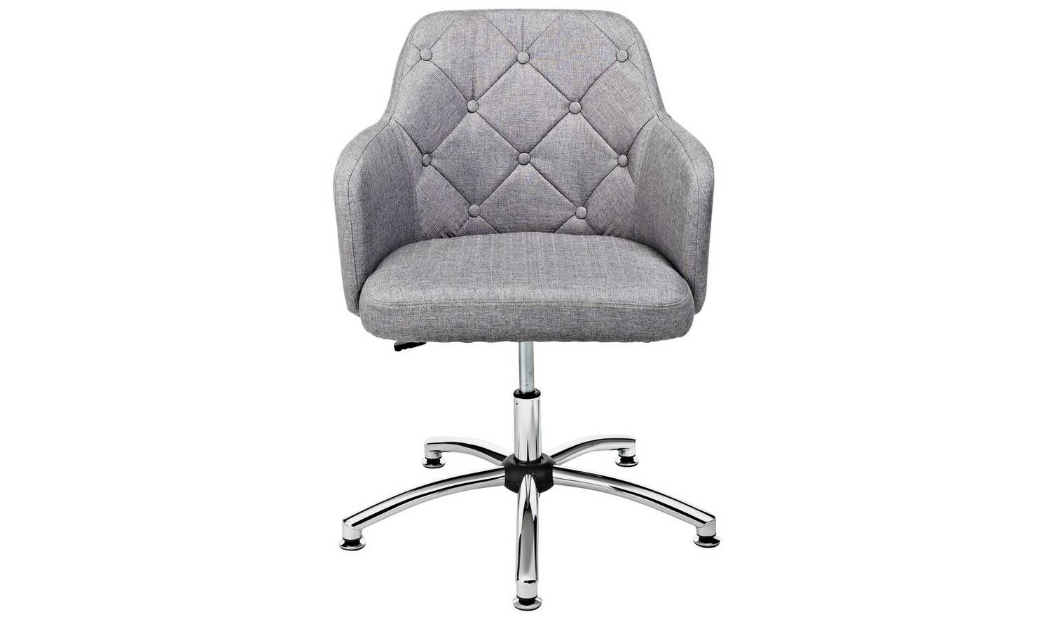 Buy Argos Home Button Back Fabric Office Chair Grey Office Chairs Argos Office Chair Grey Office Grey Chair