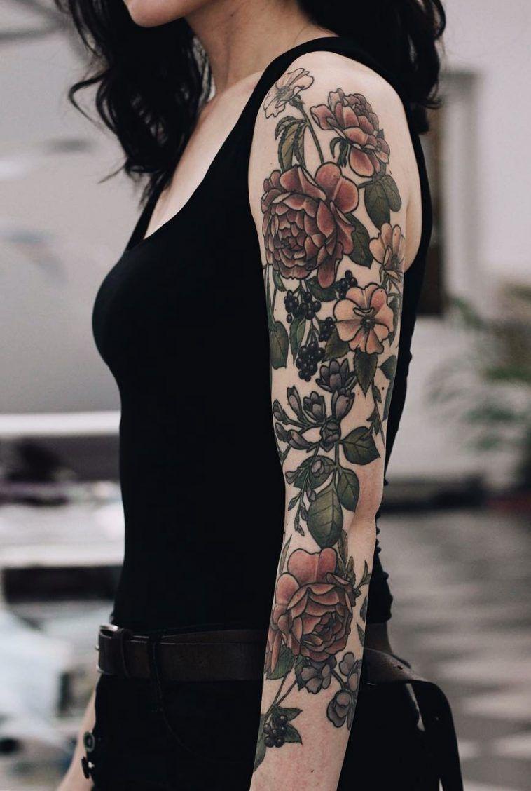 32 Sleeve Tattoos ideas for Women  Sleeve tattoos for women Tattoo sleeve  designs Flower tattoo sleeve