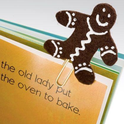 A Sweet Bookmark, gingerbread bookmark