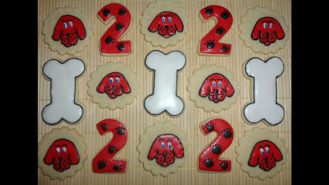 Clifford the big red dog cookies cliffordparty