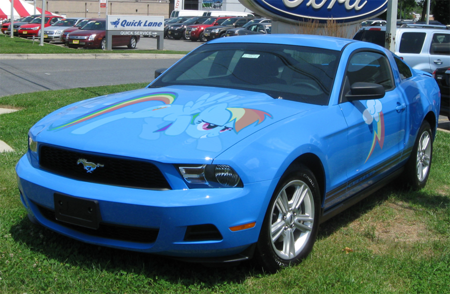 A One Of A Kind Rainbow Dash Edition Of The Ford Mustang Ford