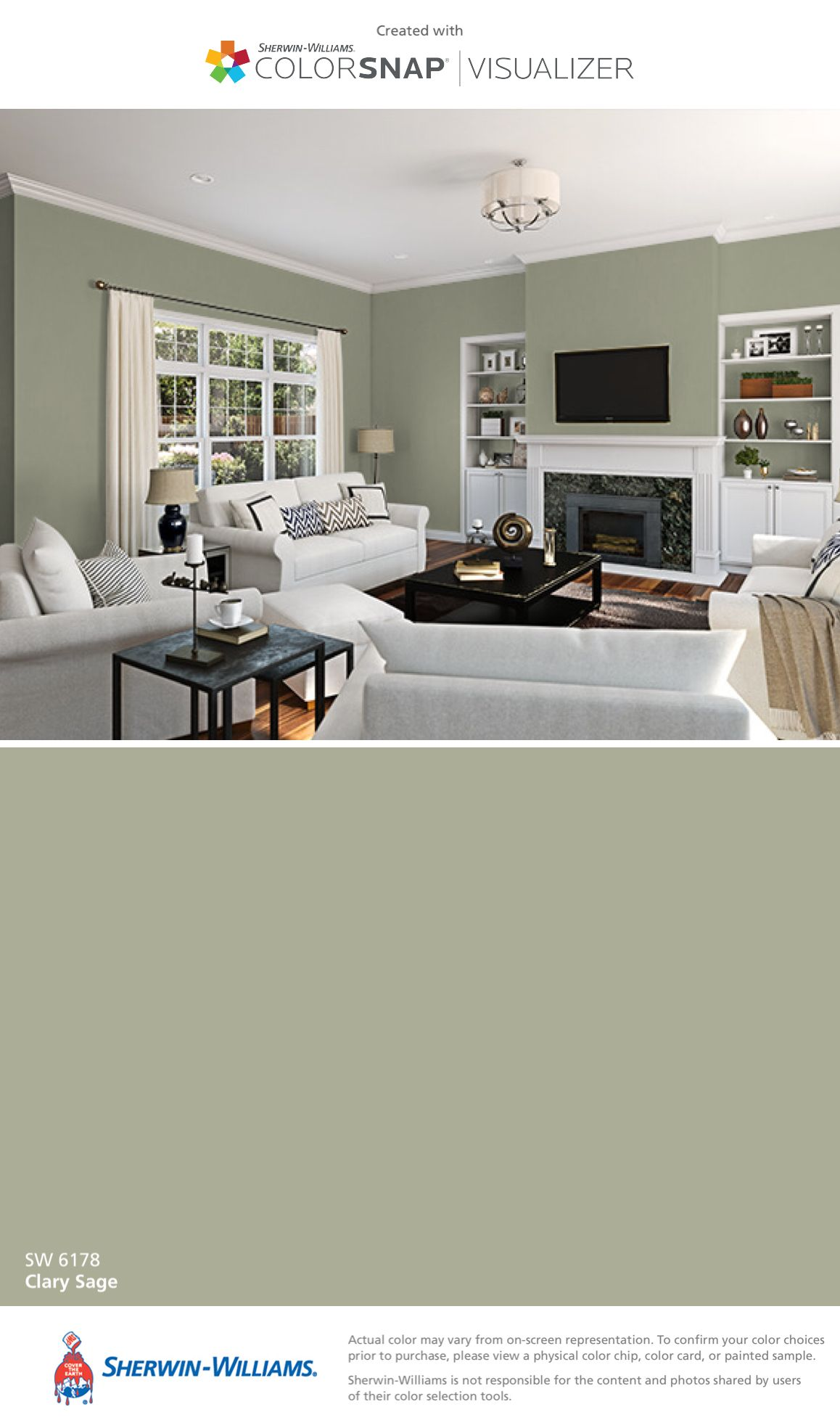 living room wall paint colors%0A Living room ideas    I found this color with ColorSnap   Visualizer for  iPhone by SherwinWilliams  Clary