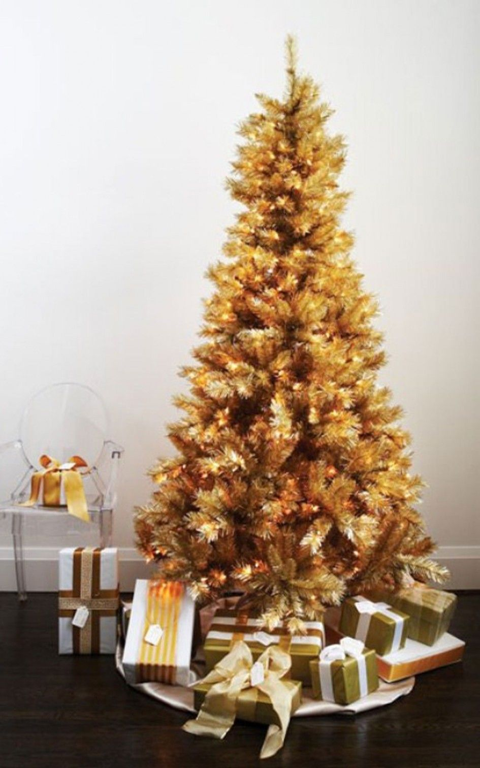 Idéias de decoração, surpreendendo Brown decoração da árvore com caixa de presente ao redor: 17 foto maravilhosa Idéias decoração para o Dia de Natal