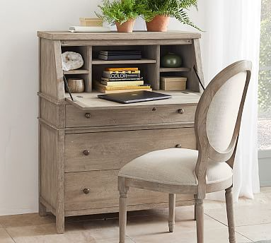 Louis Desk Chair In 2021 Desks For Small Spaces Desk With Drawers Modern Secretary Desk Secretary desks for small spaces
