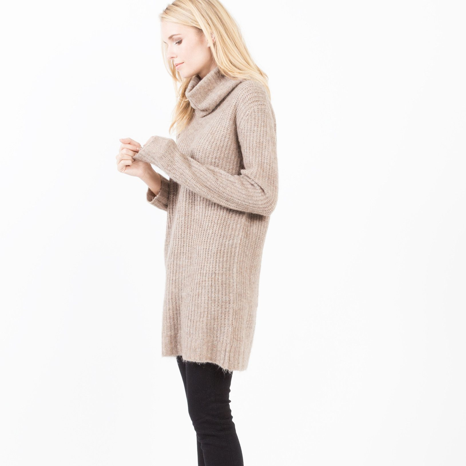 Modern Citizen | Noa Turtleneck Tunic Sweater (Camel) $92 | Style ...