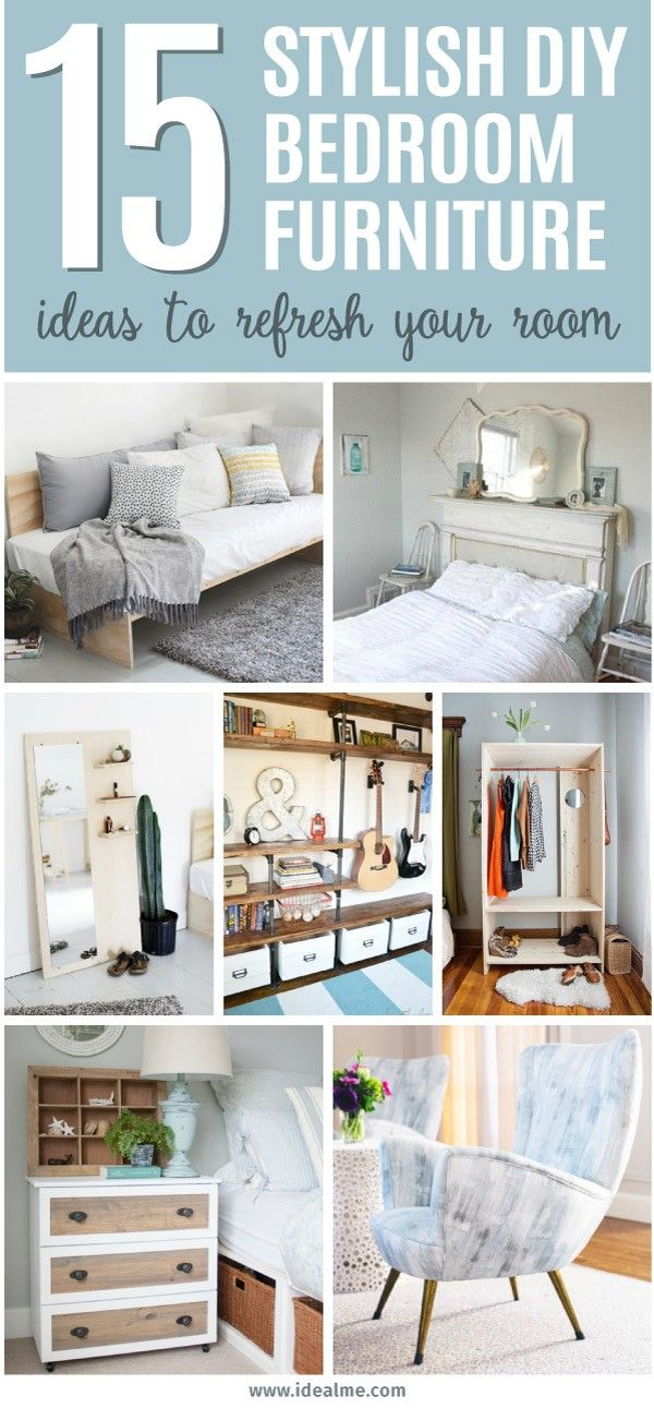 15 Stylish Diy Bedroom Furniture Ideas, Diy Bedroom Furniture