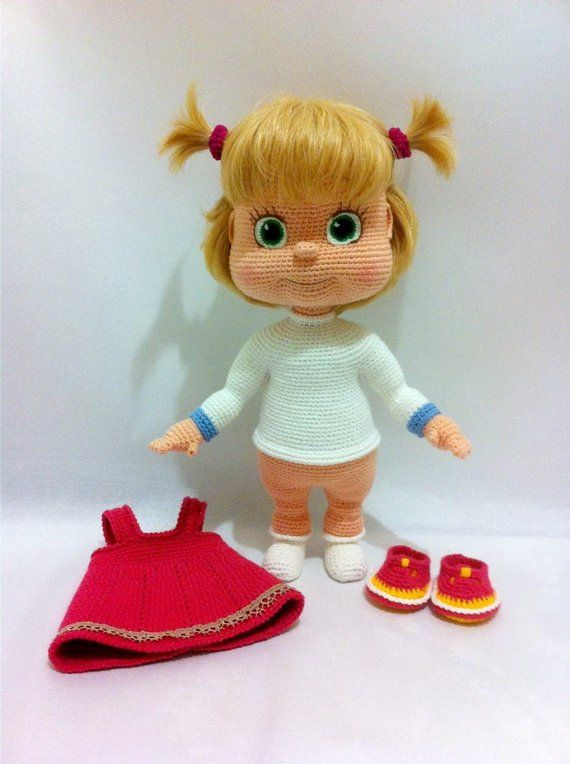 Masha - handmade crochet doll by Ludmila Zhdanova #dollcare