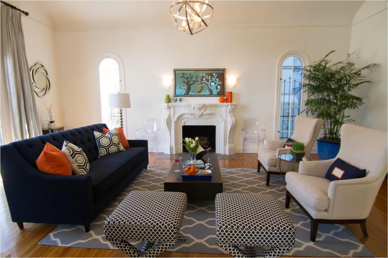 44 Stunning Navy And Orange Living Room 49 S 2 Blue Sofas Li