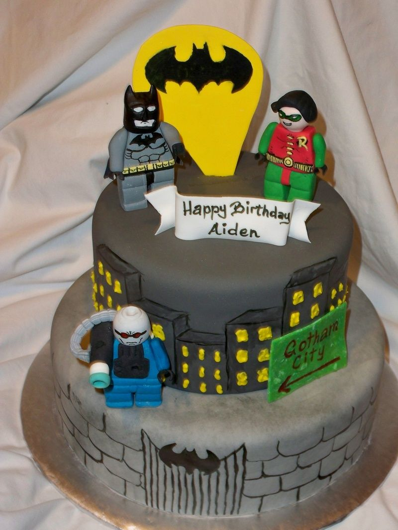 Not So Sure I Would Make Little Figurines But Maybe Ill Just Put - Lego batman birthday cake
