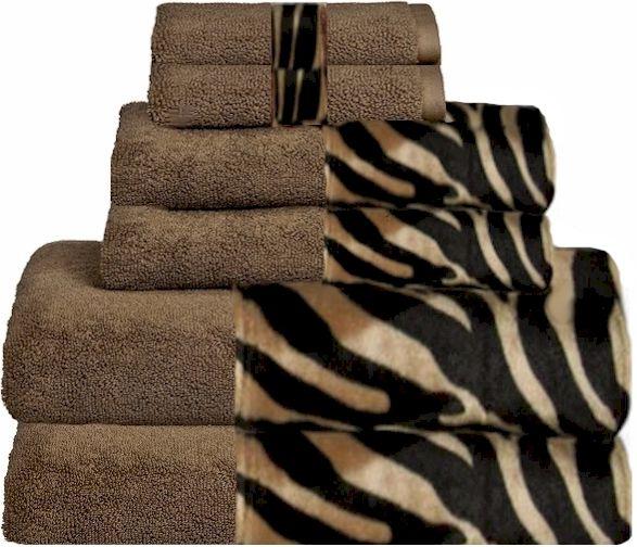 Mocha Zebra Coffee Bordering Africa Bath Towels 11 00 27 00 Sale 10 00 24 00 Leopard Print Bedroom Decor Animal Print Bathroom Safari Bathroom