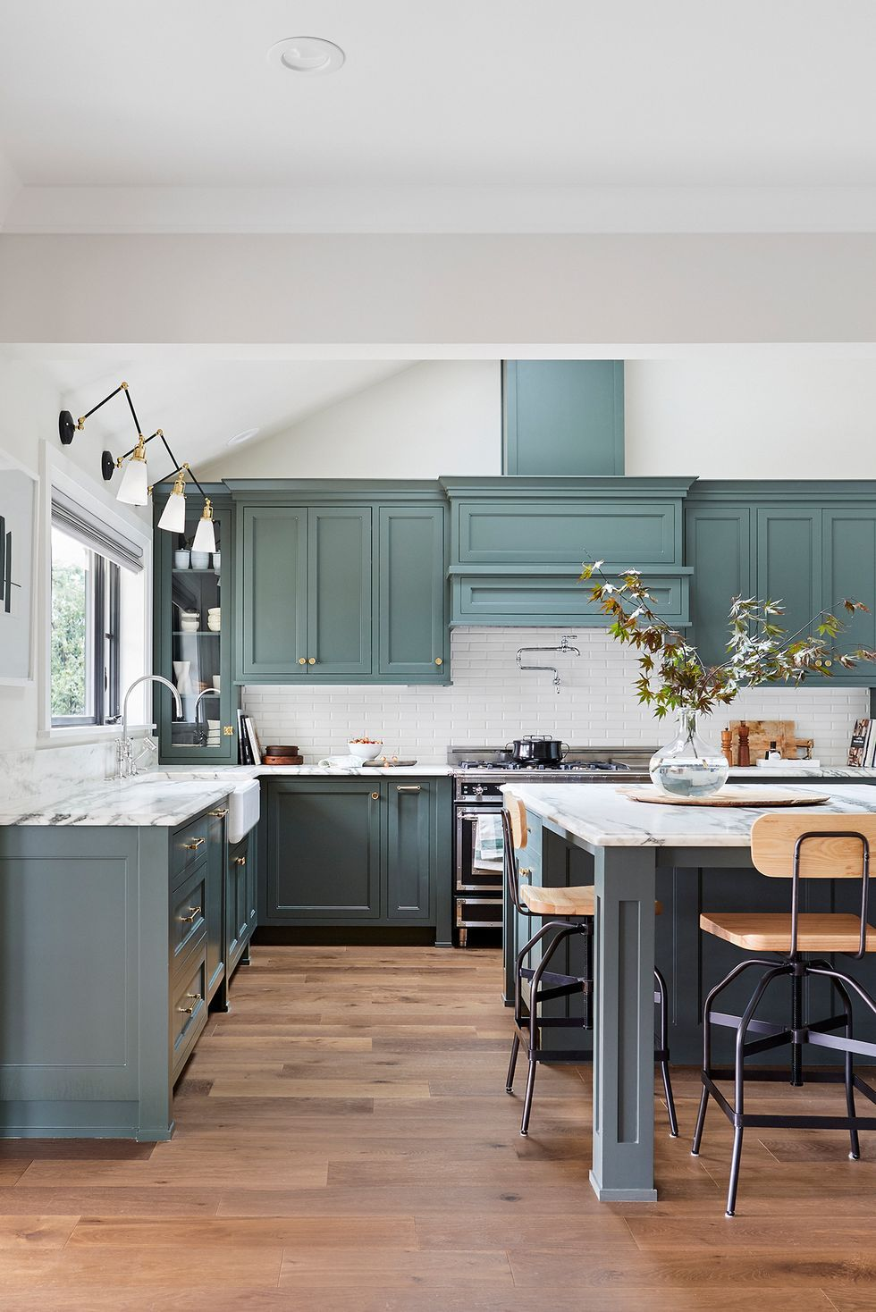 The Kitchen Cabinet Paint Colors Designers Will Use In 2020 In 2020 Kitchen Color Trends Green Kitchen Cabinets Kitchen Cabinets Decor