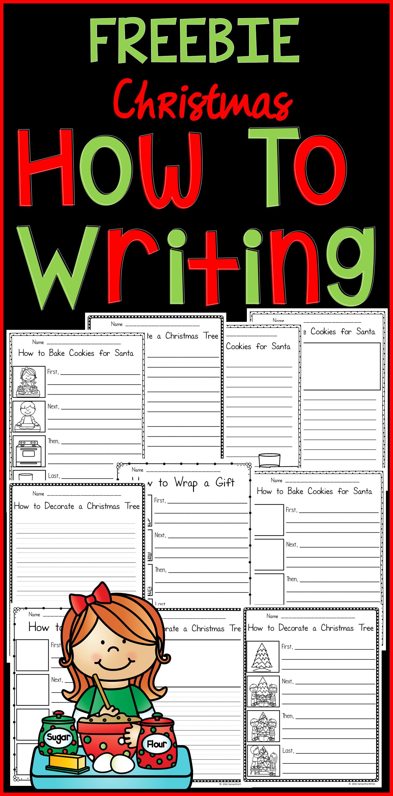 How To Writing Christmas Edition Freebie