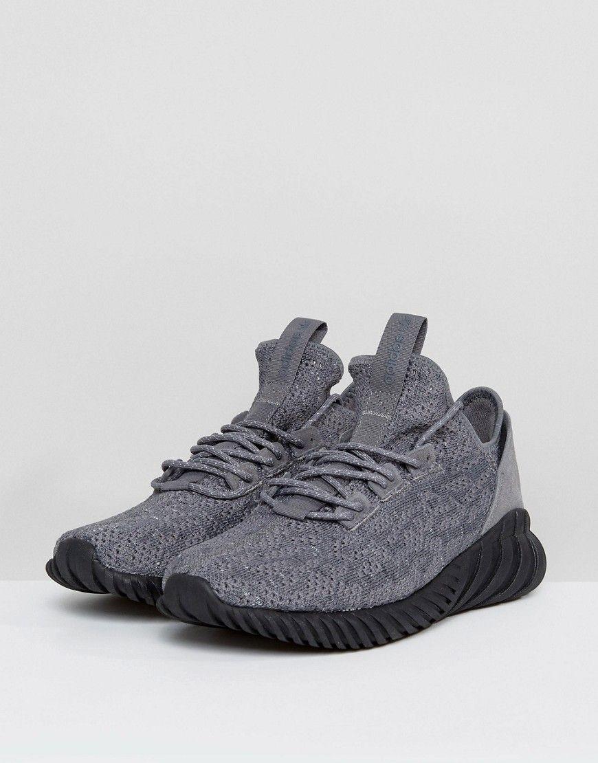 86ce3548 adidas Originals Tubular Doom Sock Primeknit Sneakers In Gray BY3564 ...