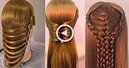 Wie Frisur zu Hause für Mädchen zu machen – Diy Easy Geflochtene Frisuren,  #D…