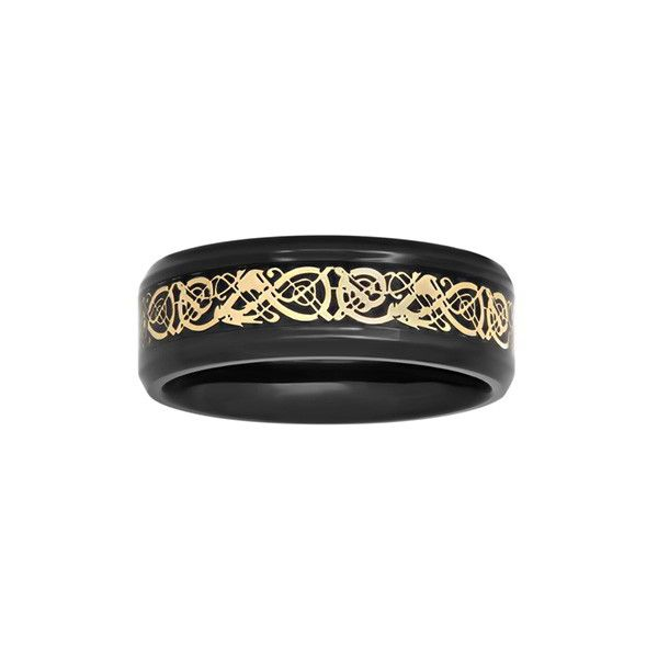 Men's 8mm Comfort Fit Wedding Band ($75) ❤ liked on Polyvore featuring men's fashion, men's jewelry, men's rings, mens watches jewelry, mens stainless steel wedding rings, mens yellow gold rings, mens wedding rings and mens rings
