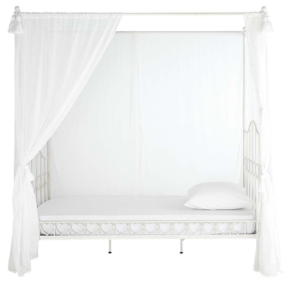 Lit à Baldaquin X En Métal Ivoire Bedrooms Canopy And Room - Lit baldaquin 90 x 190