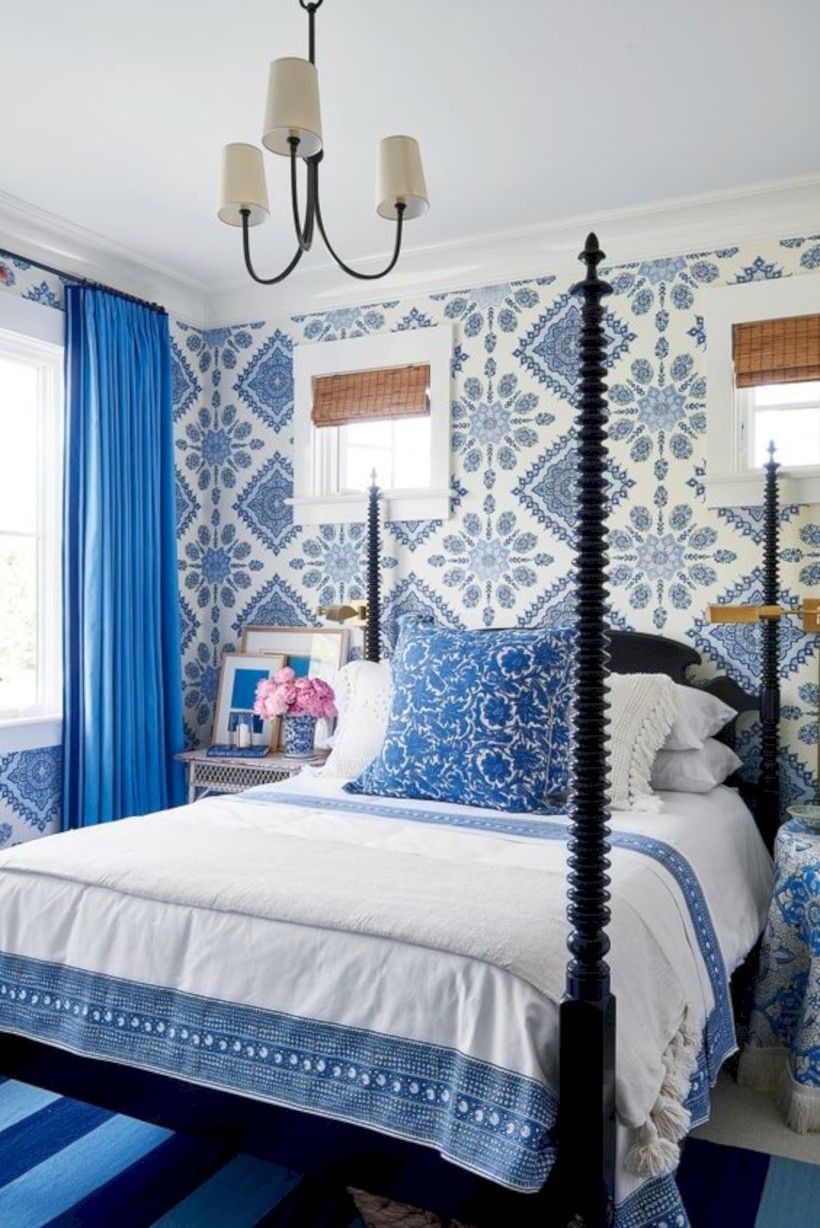 Blue And White Bedroom Design Fair 40 Cool Blue And White Bedroom Design Ideas  Bedrooms Master 2018