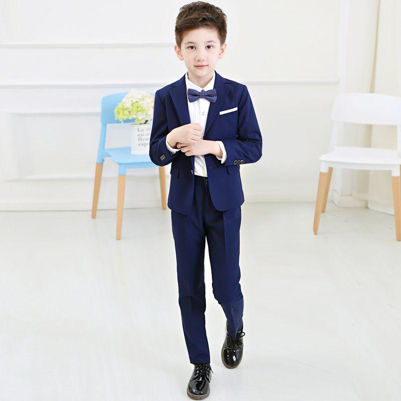 Click To Buy Boys Blazers Suit Kids Boy Suits For Weddings Jacket Blouse Tie Pants 4 Pieces Set Children Costu Kids Suits Kids Outfits Kids Party Dresses