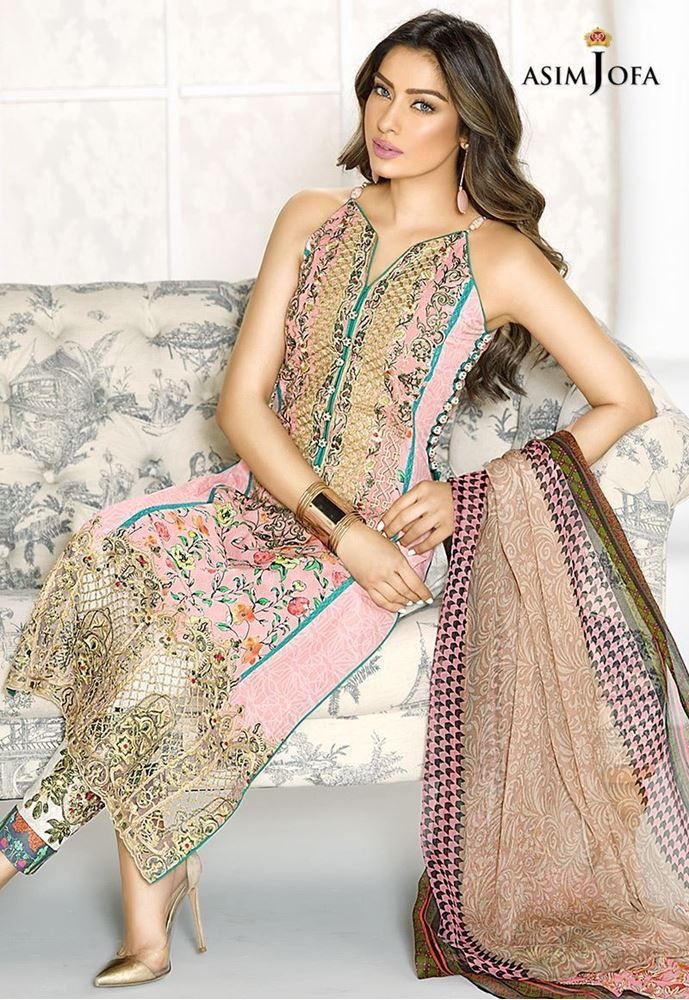 Asim Jofa AJL-8A Digital Lawn 2017 Price in Pakistan famous brand online shopping, luxury embroidered suit now in buy online & shipping wide nation..