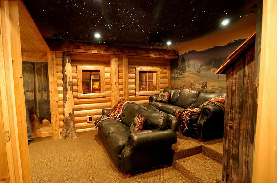 Design Basement Style 10 Awesome Basement Home Theater Ideas  Basements Log Cabins And .