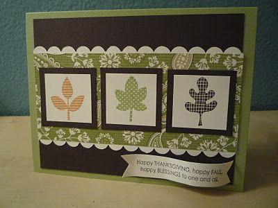 Fall card--Leaf punch, border maker?