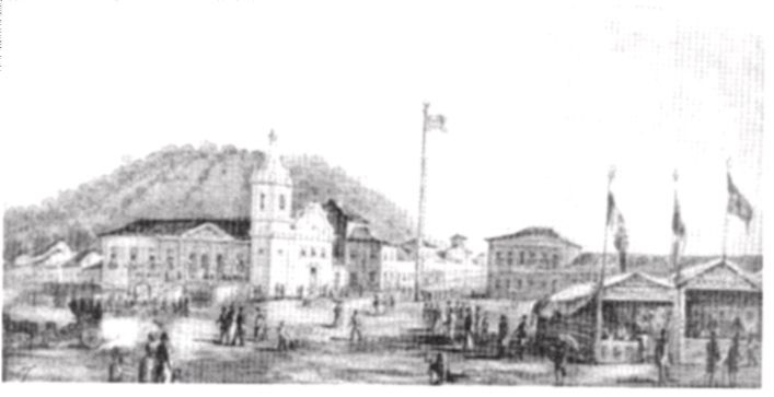 Campo de Santana - 1851- Jose Reis Carvalho - acervo do Museu Nacional de belas Artes.