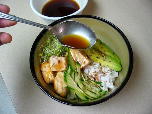 Sushi bowl with seared salmon korean cooking recipes korean food sushi bowl with seared salmon korean cooking recipes korean food asian fusion cooking forumfinder Image collections