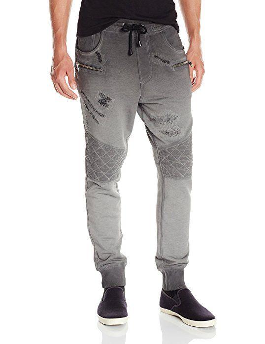 6083182d6f9903 Amazon.com  Just Cavalli Men s Moto Jersey Jogger Pant
