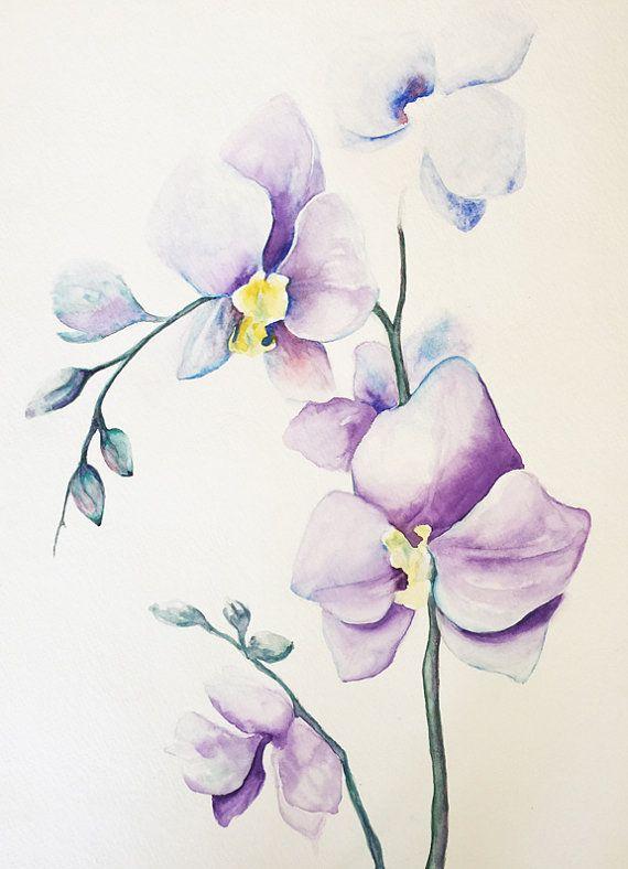 art de peinture orchid es original d coration murale. Black Bedroom Furniture Sets. Home Design Ideas