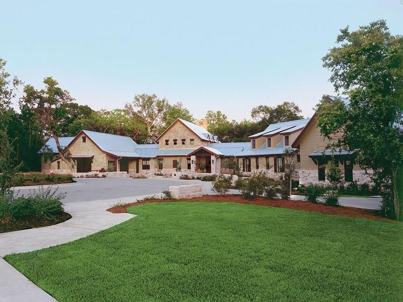 Sprawling texas ranch style home for South texas house plans