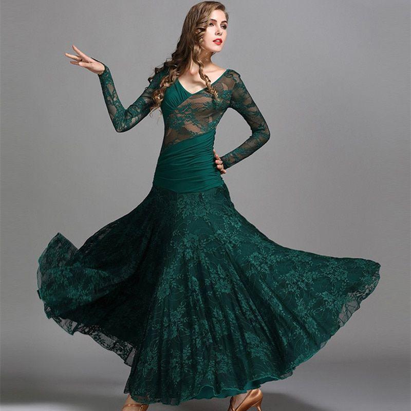 Modern Waltz Tango Smooth Latin Ballroom Competition Dance Ball Gown Dress Skirt