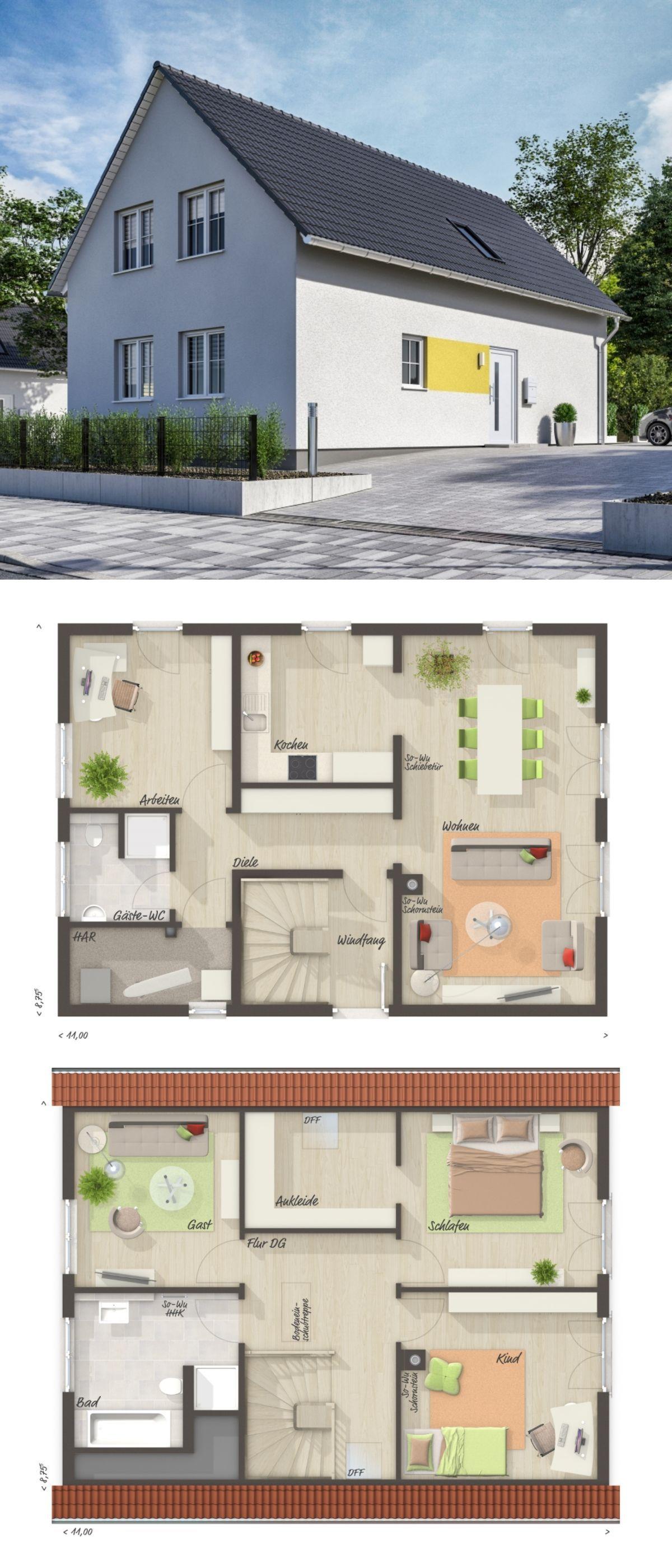 Klassisches Satteldach Haus mit Sprossenfenster & 5 Zimmer